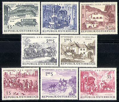 Austria 1964 Horses/Stagecoach/Bus/Coach/UPU/Transport/Animals/Post 8v (n30439)