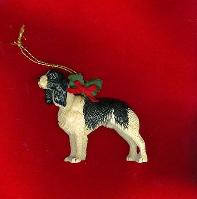 Unusual Vintage Stone Resin DETAILED Springer Spaniel Ornament Dog by PAPEL