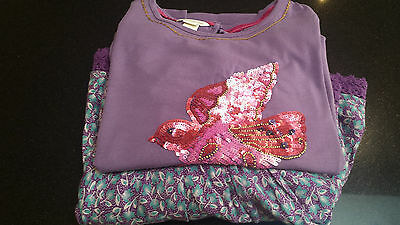 Lovely Girls Monsoon Skirt and Long Sleeve Sequin Top 12 years EX CONDITION