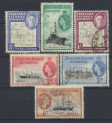 No: 47269 -  FALKLAND ISLANDS - LOT OF 6 OLD STAMPS - USED!