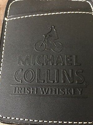NEW MICHAEL COLLINS IRISH WHISKEY Black leather BUSINESS CARD HOLDER