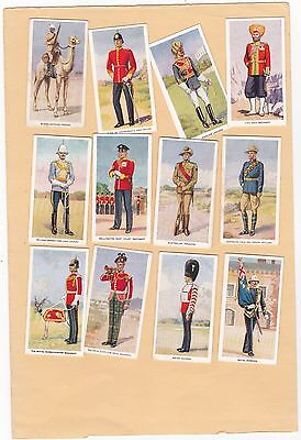 Godfrey Phillips Part Set 12/25.soldiers Of The King. Issued.1939..