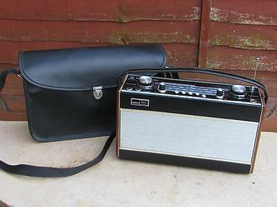 Vintage Roberts R707Vhf/sw/mw/lw Radio With Rare Carry Case Bag