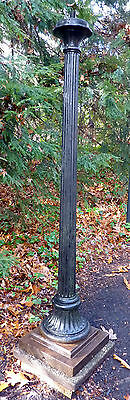 Vintage Cast Iron Lamp Post by Smyser - Royer ~ ca. 1925 ~ Fluted Column