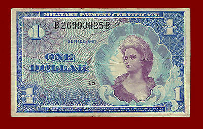 Nd(1968-69) Series 661 Mpc (Military Payment Certificate) $1 Note 8025