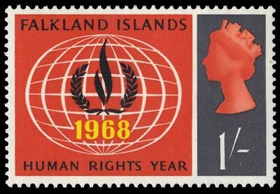 FALKLAND ISLANDS 164 (SG230) - Human Rights Flame (pf47726)