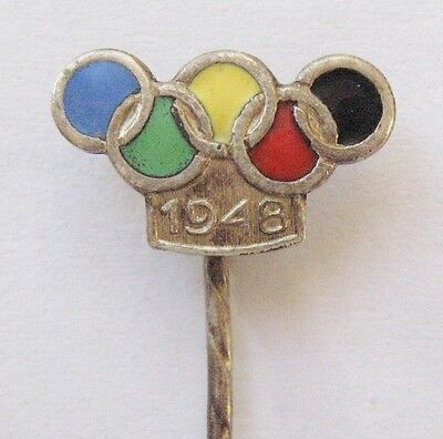 1948 London Olympics Vintage Stick Pin Badge (2)