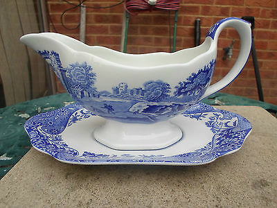 Spode Italian Gravy Boat and Underplate