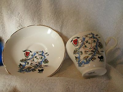 Crested China Cup And Suacer