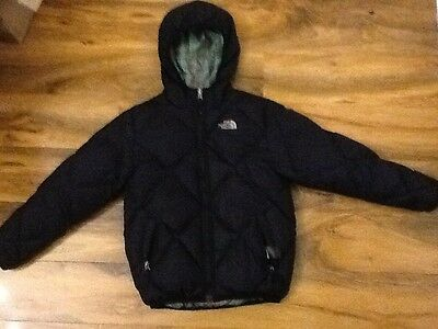 Genuine girls north face reversible moondoggy down coat Size M/10-12 Years