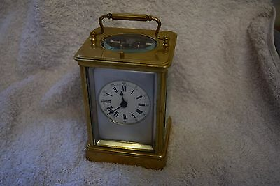 antique french  carriage clock repeating on a gong