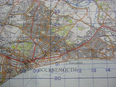 1951 Map Bournemouth Poole Swanage Christchurch Swanage Ringwood