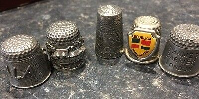 Selection Of 5 Metal Thimbles