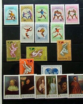 Romania 1967/69 - Sports Sets X 2 + Paintings Set - Mnh