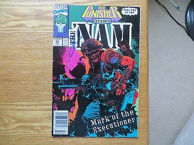 1991 Punisher Invades The Nam # 53 Origins Issue Signed Jimmy Palmiotti With Poa