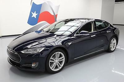 2014 Tesla Model S  2014 TESLA MODEL S 85 TECH PANO SUNROOF NAV REARCAM 20k #P52786 Texas Direct