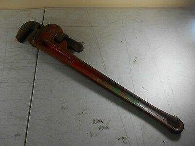 "Ridgid 24"" Pipe Wrench - Red - Heavy Duty - Elyria, OH - USA (2)"