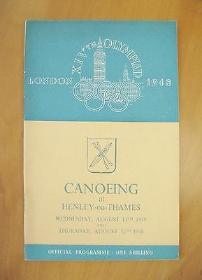 1948 London Olympics Canoeing Programme Henley On Thames 11th-12th August *Exc*