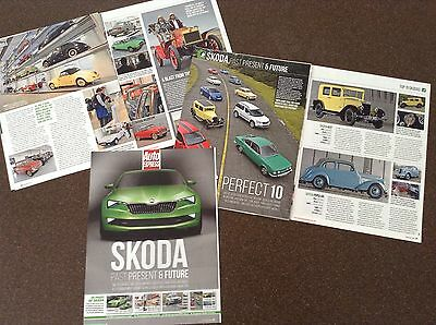SKODA Past Present & Future - Magazine feature (S2000, 422, 1000MB, R Coupe)