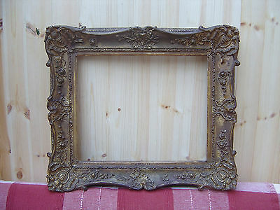 """LARGE ORNATE ANTIQUE GILT GESSO FRAME 24"""" x 21"""" - PICTURE - PAINTING - MIRROR"""