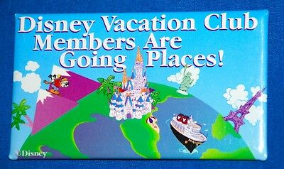 Disney Vacation Club Button - Dvc Members Are Going Places!