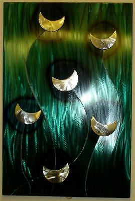Sea The Moon Metal Wall Art Hand Crafted Quirky Sculpture Modern Steel Panel