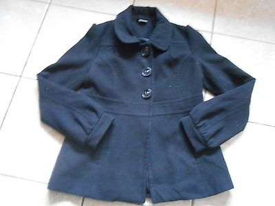 Girl's Black Button Up Coat - Kylie - Age 13