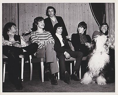 ROLLING STONES With Phil Spector ORIGINAL 1960's VINTAGE POPSIE PHOTO Rare!