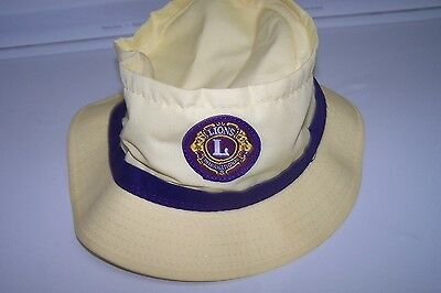 new hat-lions club  fold kind-up for carrying