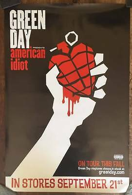GREEN DAY American Idiot 24x36 OFFICIAL PROMO Poster NOT A REPRINT