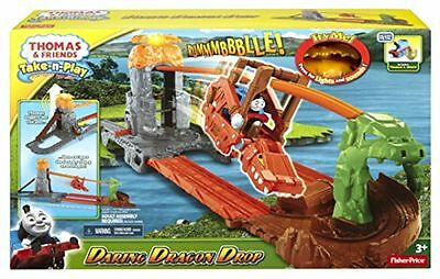 Play set Tomas and Friends Take N Play Daring Dragon Drop Engine Carriages Toy.