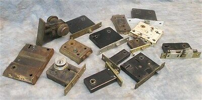 14 Locks Rim Night Latch Dead Bolt Architectural Salvage Door Hardware Mortise j