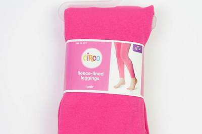 Circo Target Kids Girls Hot Pink Solid Fleece Lined Winter Leggings 12-14 Nwt