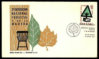 Uruguay 2Nd Expo National Forestal Y De La Madera 1970 Cachet On Fdc