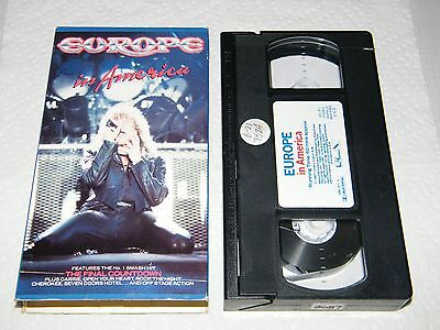 Rare Vintage VHS Tape Hair Glam Europe In America PolyGram 1988 Heavy Metal Band