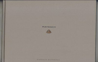 2004 Maybach Material Prestige Hardcover Book Brochure ww4018