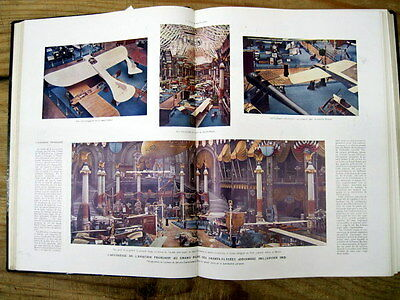 1912 illustrated newspaper PARIS France AVATION SHOW -w COLOR PHOTOS Airplanes