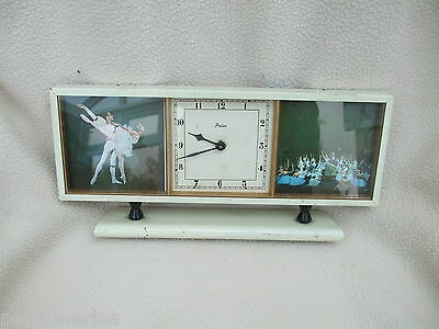 Paico  Vintage  Table Clock Featuring Ballet Dancers  To Case