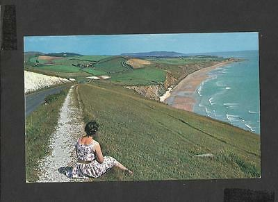 Nigh  Colour postcard Compton Bay from Freshwater Downs Isle-of-Wight