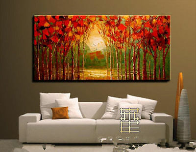HUGE WALL DECORATE CANVAS ART OIL PAINTING:tree (no framed)