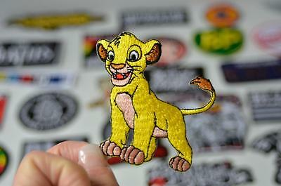 SIMBA Lion King Yellow Party Favour Animal Embroidered Patch Iron/Sew On Patches