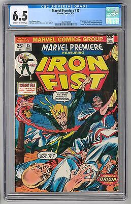 Marvel Premiere #15 CGC 6.5 1st Appearance of Iron Fist