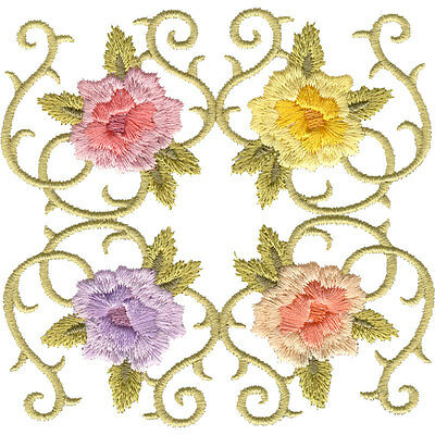 OESD Embroidery Machine Designs CD LINEN ROSES