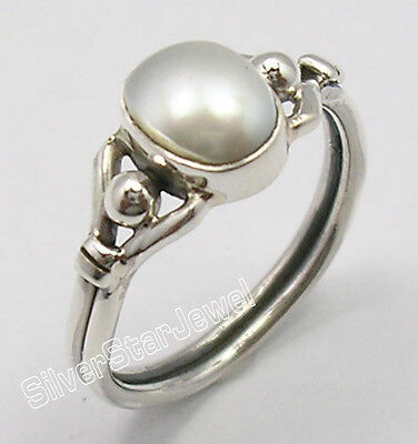 925 Sterling Silver Exclusive AAA FRESH WATER PEARL ASTONISHING Ring Any Size