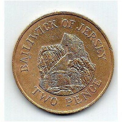 Jersey 24k Gold Plated Two Pence 1984