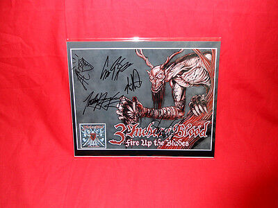 """•Sale• Metal/Rock """"3 Inches of Blood"""" Fire Up The Blades Signed 10x8 Photo"""