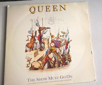 """QUEEN - The show must go on - Ltd Edit etched 12"""" Single"""
