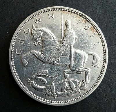 1935 George V 50% Silver Art Deco Rocking Horse Crown