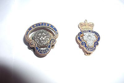 British Legion Badges One Old And Numbered Other Looks New Type  £7.50