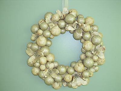 """Bethany Lowe-Paper And Platinum Wreath-16"""" -New"""